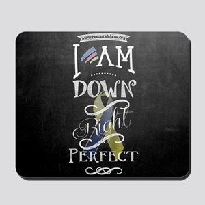 Down Right Perfect RR wide Mousepad