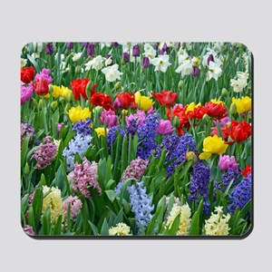 Spring garden flowers Mousepad