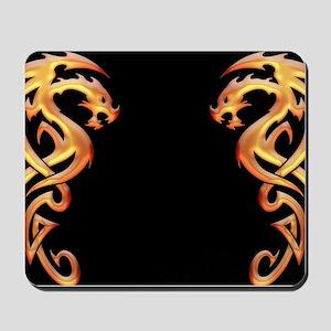 Twin Dragons Mousepad