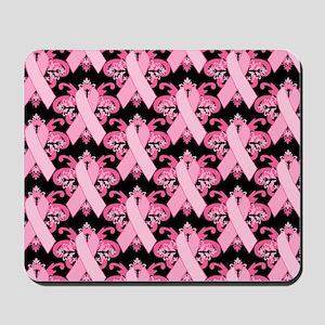 PinkRibHLLLPbLaptp Mousepad