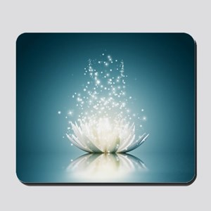 White Lotus Magic Mousepad