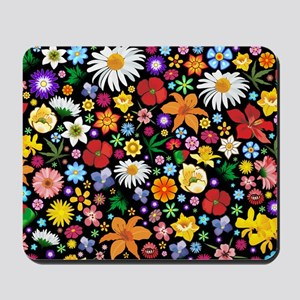Spring Flowers Pattern Mousepad