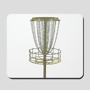 Disc Golf Basket Frisbee Frolf Mousepad