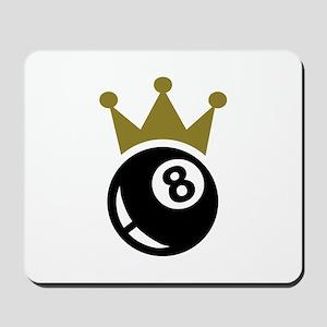 Eight ball billiards crown Mousepad