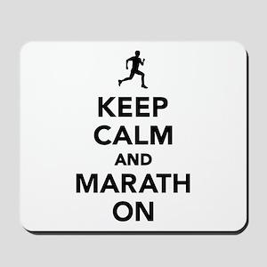 Keep calm and Marathon Mousepad