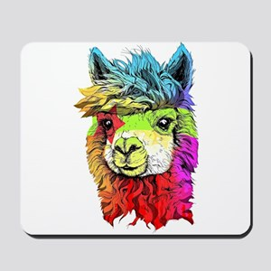 Color Me Alpaca Mousepad