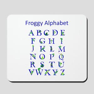 Froggy Alphabet Mousepad