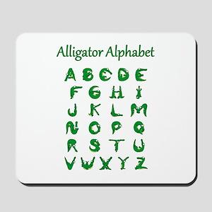 Alligator Alphabet Mousepad