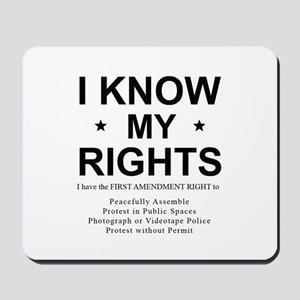 I KNOW MY RIGHTS BL Mousepad