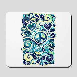 Colorful Hippie Art Mousepad