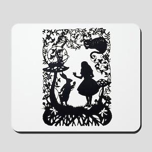 Alice in Wonderland Silhouette Mousepad