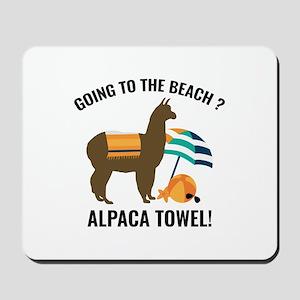 Alpaca Towel Mousepad