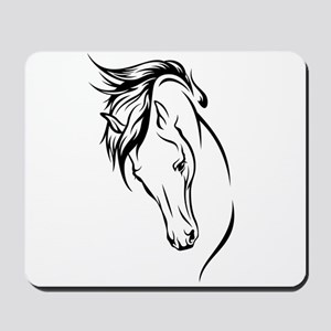 Line Drawn Horse Head Mousepad