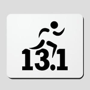 Half marathon runner Mousepad