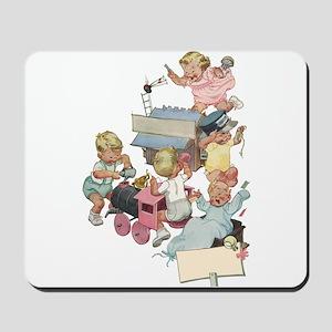 Vintage Children Playing Mousepad