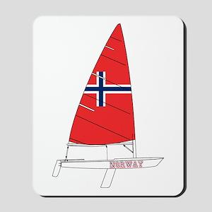 Norway Dinghy Sailing Mousepad
