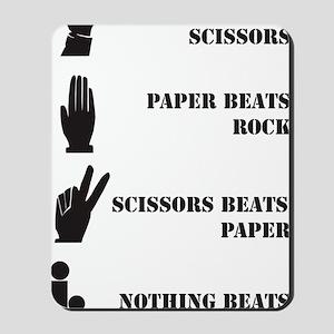 Rock Paper Scissors Blowjob Mousepad