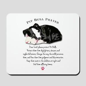 Pit Bull Prayer Mousepad