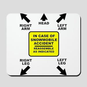 Reassemble Snowmobile Funny Mousepad