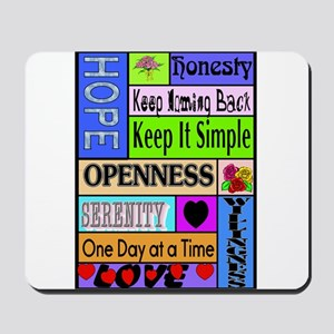 COLORED BLOCK SLOGANS Mousepad