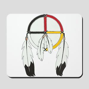 Feathered Medicine Wheel Mousepad