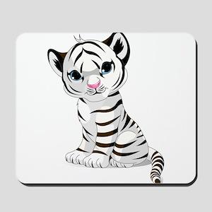 Baby White Tiger Mousepad