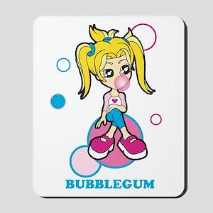 Bubble Gum Girl Mousepad