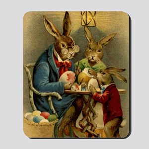 Easter rabbits painting eggs 2 Mousepad