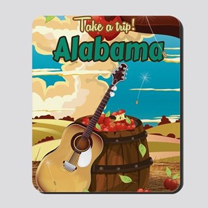 Alabama vintage travel poster Mousepad