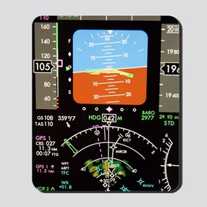 Aeroplane control panel display Mousepad
