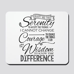 Serenity Prayer (chalk Text) Mousepad