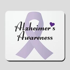 Alzheimers Awareness Ribbon Mousepad