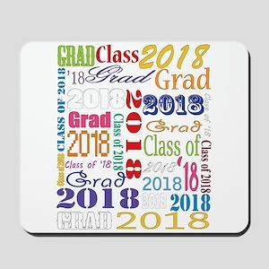 2018 Graduation Typography Mousepad