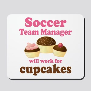 Funny Soccer Team Manager Mousepad