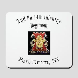 2nd 14th Inf Reg Mousepad