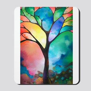 Tree of Light by Sally Trace Mousepad