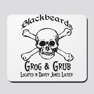 Blackbeards grog and grub Mousepad