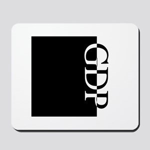 GDP Typography Mousepad