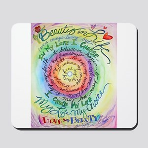 Beauty in Life Cancer Support Poem Mousepad
