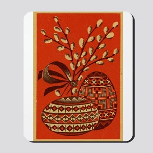 Vintage Russian Easter Card Mousepad