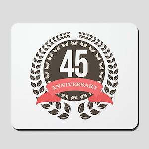 45Years Anniversary Laurel Badge Mousepad
