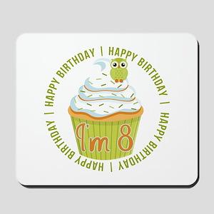 8th Birthday Cupcake Mousepad