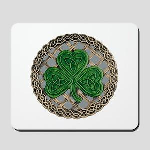 Shamrock And Celtic Knots Mousepad