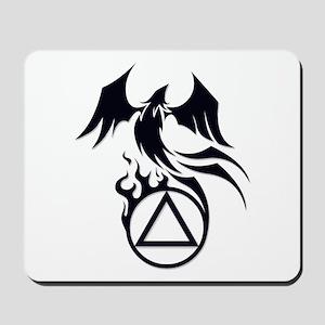 A.A. Logo Phoenix B&W - Mousepad