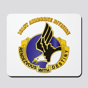 DUI - 101st Airborne Division with Text Mousepad