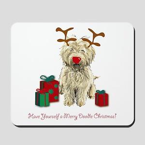 Merry Doodle Christmas Mousepad