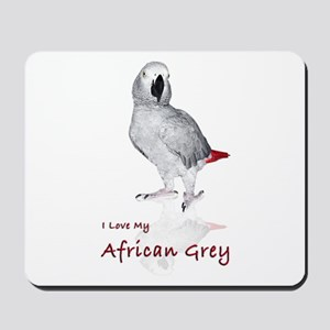 i love african greys Mousepad