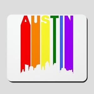Austin Gay Pride Rainbow Cityscape Mousepad