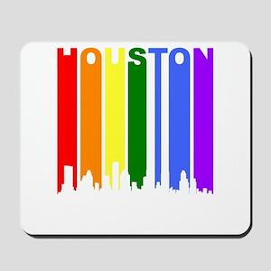 Houston Gay Pride Rainbow Cityscape Mousepad