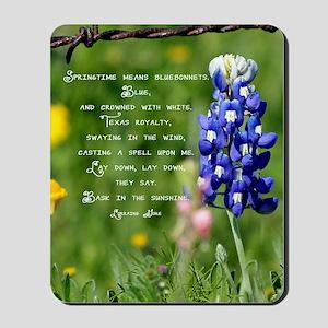bluebpnnet poem Mousepad